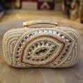 GUDANSEN Women's Crystal Evening Bag Mini Handbag Beaded Clutch Wedding Diamond Bag Rhinestone Small Shoulder Bags