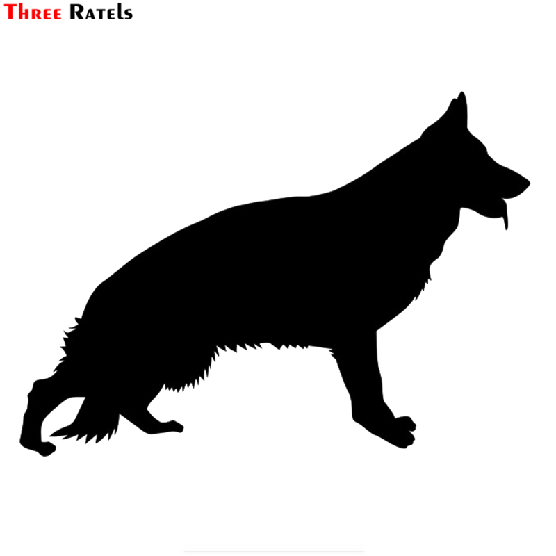 Three Ratels LBH183# 15x10.7cm German Shepherd Dog Car Sticker Funny Car Stickers Styling Removable Decal