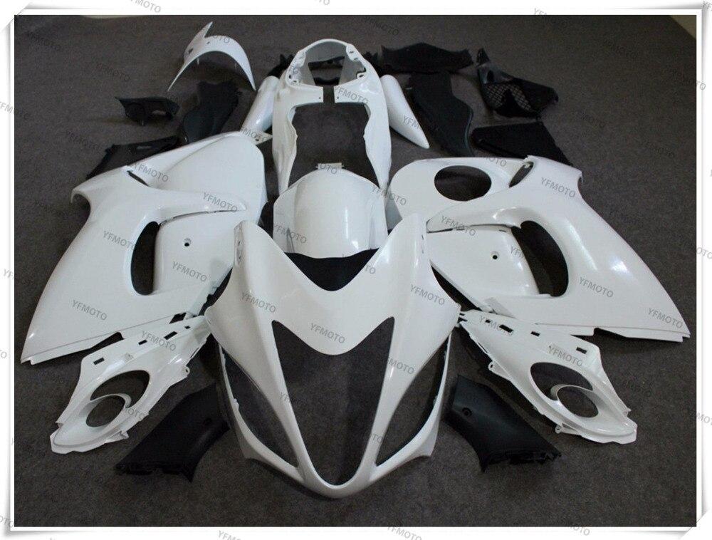 Мотоцикл неокрашенный Белый Обтекатели кузова Комплект для Suzuki GSXR1300 GSXR 1300 Хаябуса 2008-2015 09 10 11 12 13 14 +4 подарок