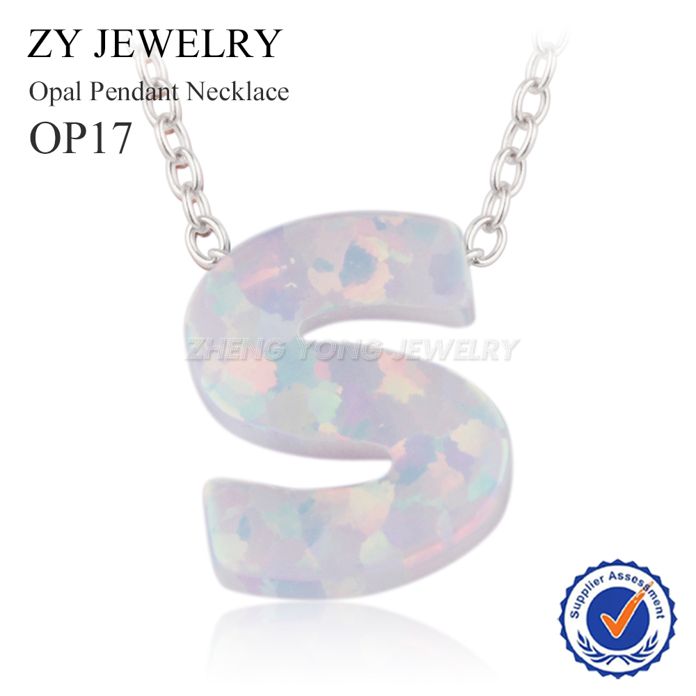 necklace gold ct oval pendant opal in white qp