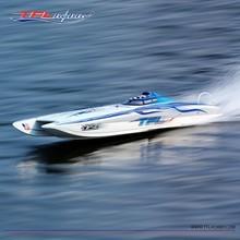 Новое поступление Pagani Zonda Cat двухкорпусная лодка с корпусом из стекловолокна RC лодка с синим покрытием до 100 км/ч
