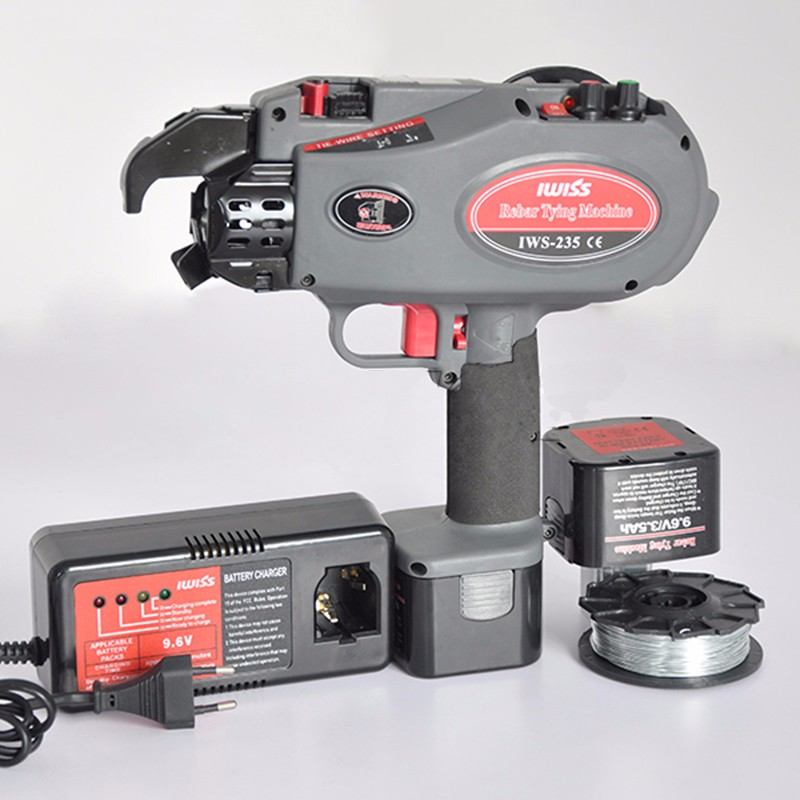Machine à attacher les barres d'armature portatives 4-28mm IWS-235 de reliure ronde sans fil
