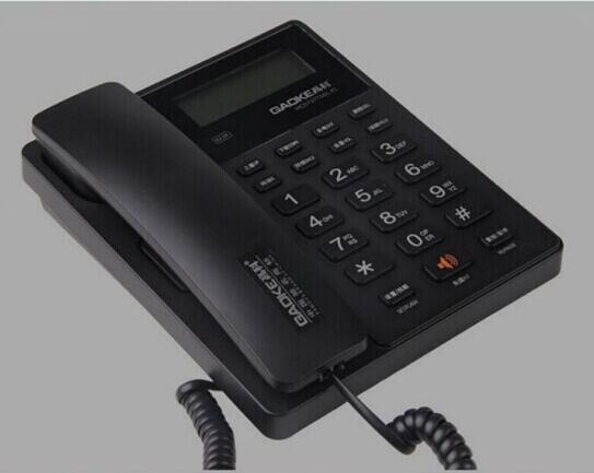 Мода громкой Двойной Интерфейс Стационарный Без Батареи Телефон Для Домашнего Офиса Бизнес-Черный Белый