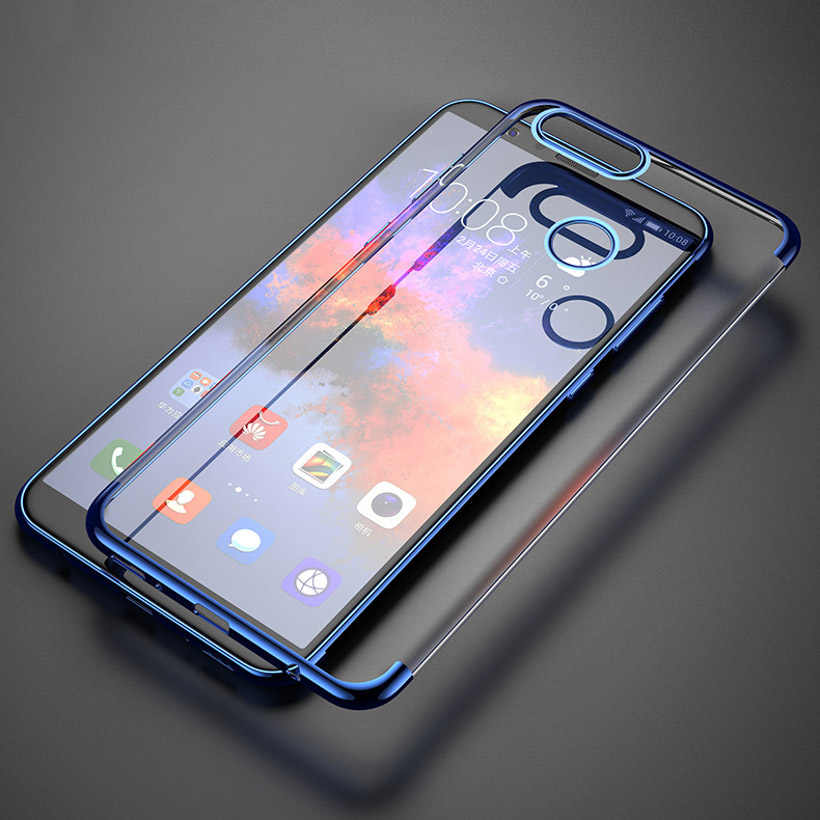 Silicone Case For Huawei Honor 9 Lite Honor 10 V10 8 7X 7C 7A Pro P smart Y7 Prime 2018 Y9 Y6 2017 Plated Shining Covers Coque