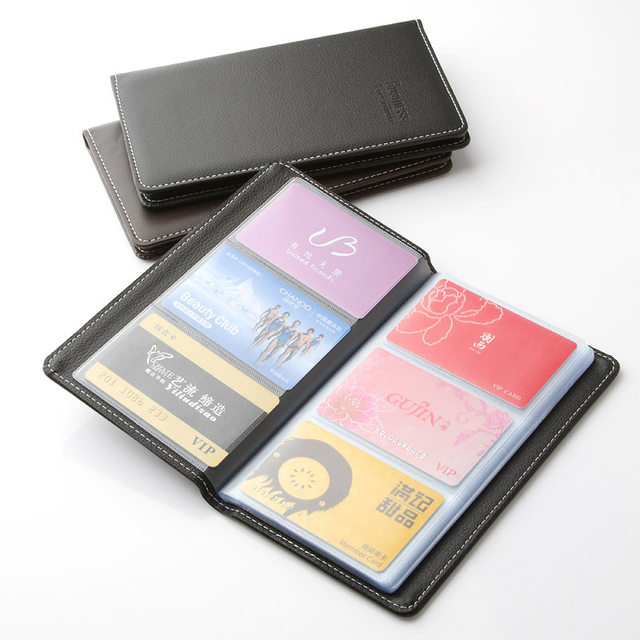 Online shop deli large capacity senior pu name card holder card deli large capacity senior pu name card holder card package business card holder card book reheart Image collections