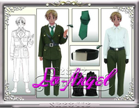 Anime APH Axis Powers Hetalia England Military Uniform Full Set Cosplay Halloween Party Costume Customized Size