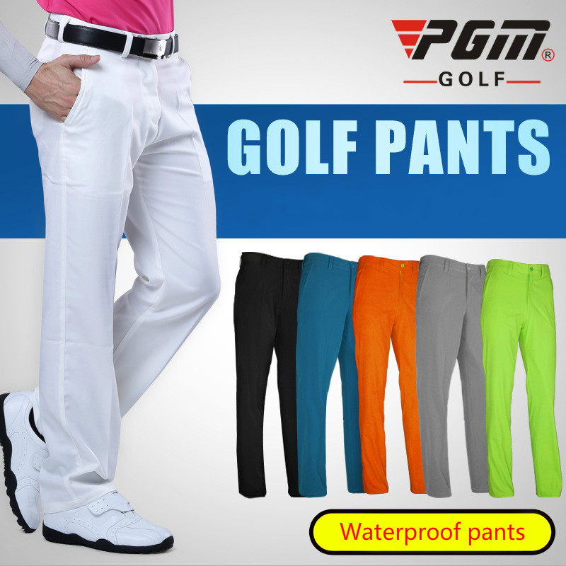 2017 Men's Golf Pants Quick Dry Waterproof Sports Colorful Golf Trousers Summer Thin Pants Outdoor Golf Clubs Brand