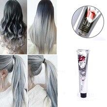 1 шт. 100 мл модный светильник серый цвет натуральный Перманентный супер крем-краска для волос