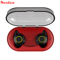 TWS Wireless Earbuds Stereo Handfree Headset Bluetooth V5.0 Hifi Earphone with Mic Mini Charger Charging Box For iPhone Android