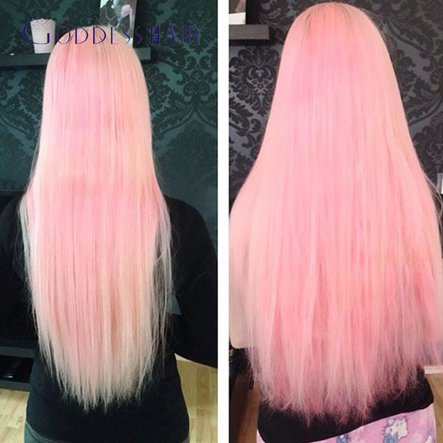 7a Brazilian Remy Hair Tape In Human Hair Extension Pinkbluegrey