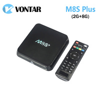 [Genuine] M8S Plus/M8S + TV Box Android 5.1 Amlogic S812 Quad Core 2.4G & 5G Wifi 2 GB/8 GB H.265 HEVC Gigabit Lan Set top box