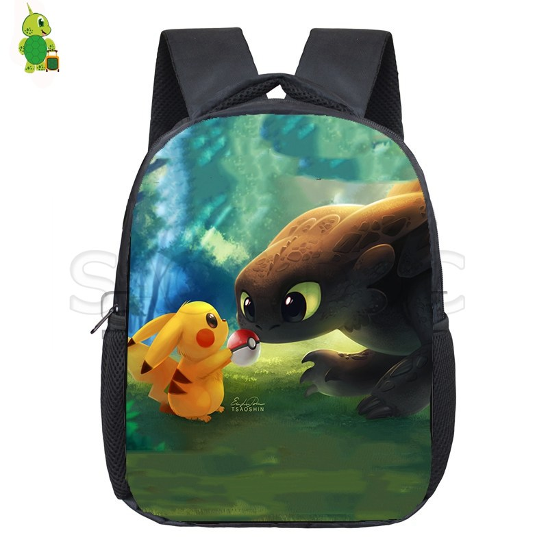 Detective Pikachu Backpack Pokemon Eevee Pencil Case School Bags Toddler Backpack Boys Girls Anime Primary Kindergarten Backpack