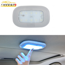 2019 VVVIST Car LED Reading Light Book Lamp LED Panel Light USB Charging Magnet Roof Auto Interior Dome Lamp For Make Up Cabinet цена