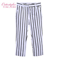 Pettigirl Boys Pants Casual Harem Pants Striped Everyday Trousers Retail Children Cotton Clothing