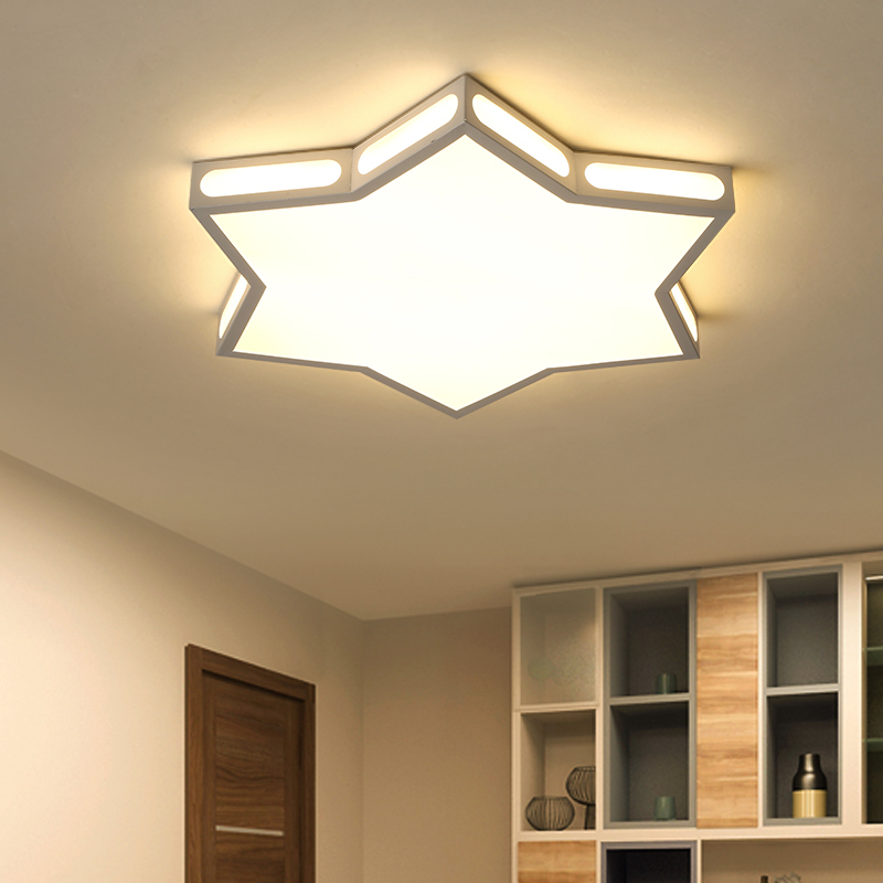 children room ceiling lights modern Led for kids room protect eyesight acrylic Iron plafonnier ceiling lamp lamparas de techo noosion modern led ceiling lamp for bedroom room black and white color with crystal plafon techo iluminacion lustre de plafond
