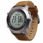 <+>  MG03 Спортивные часы с кожаным ремешком Многофункциональный циферблат из нержавеющей стали Альпинист ①