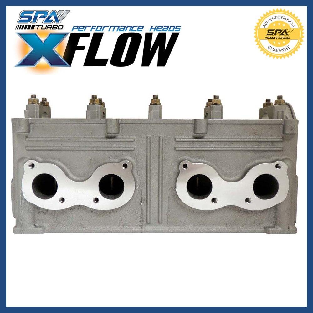 US $590 0 |SPA Turbo XFlow cross flow race street ported cylinder head fits  VW 8V Golf Jetta 1 8L 2 0L ABA MKIII GTI EVCABT01 high CFM-in Cylinder