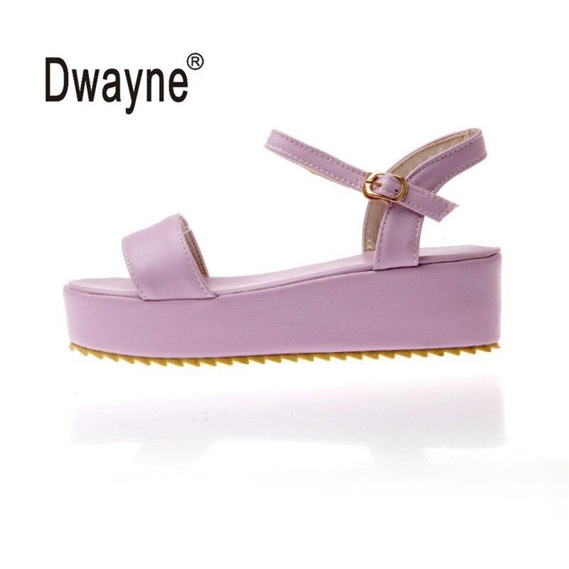 Femmes PU cuir plat sandales chaussures été chaussures femme sandales chaussure femme Sandalias Mujer sandalia feminina V-11-48