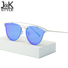 2017 New Sunglasses Women Unique Classic Cat Eye Brand Designer Fashion Double Alloy Frame Vintage Sun Glasses occhiali da sole