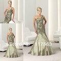 Elegante sirena apliques de un hombro tafetán largo jardín madre de la mujer de la novia vestido envío gratis MQ055