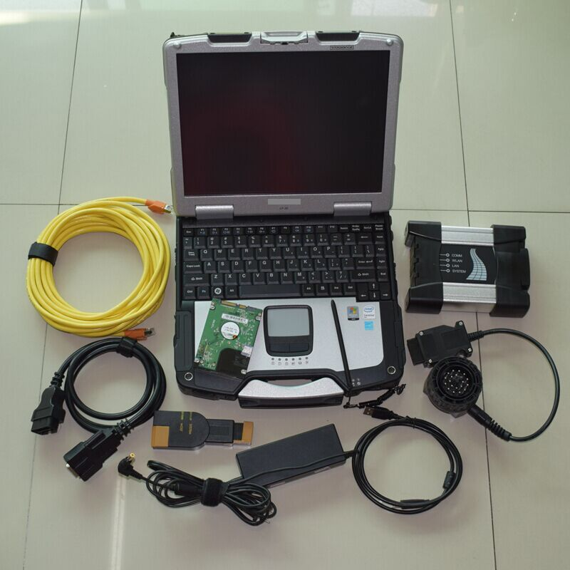 For bmw scanner icom next with computer toughbook cf-30 ram 4g laptop with software 500gb hard disk windows 7 ready to use
