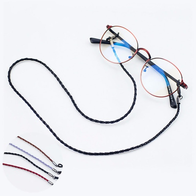 87b2f87474 One Piece Adjustable Glasses Strap Neck Cord Sports Eyeglasses String Rope  Band Holder 4 Colors Are