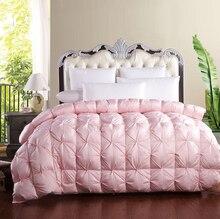 95white goose down comforter cotton tribute silk thickening winter quilts edredon casal duvet blanket solteiro edredom colcha