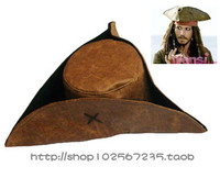 Adultos Chapéu de Festa de Halloween Cosplay Peruca Traje Jack capitão Pirata Chapéu de Pirata pirata B-2916
