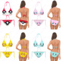 Pokemon Bikini Set Girls Squirtle Swimsuit Cute Smiley Face Pikachu Beachwear 3D Print Jigglypuff Pattern Two Piece Swimwear