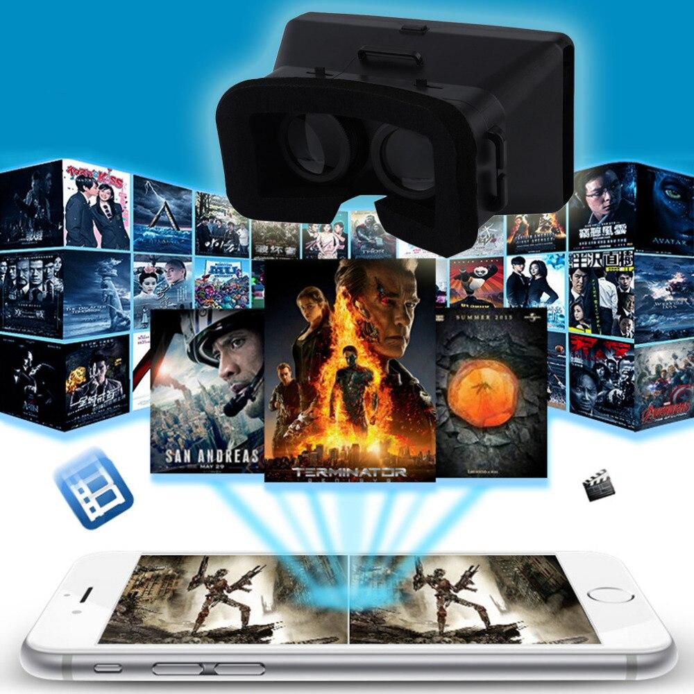 """<font><b>Universal</b></font> 3D <font><b>VR</b></font> Glasses Head Mount <font><b>Virtual</b></font> <font><b>Reality</b></font> Google Cardboard Headset DIY 3D <font><b>Movie</b></font> <font><b>Game</b></font> <font><b>Video</b></font> Glasses For 4-6"""" Smartphones"""