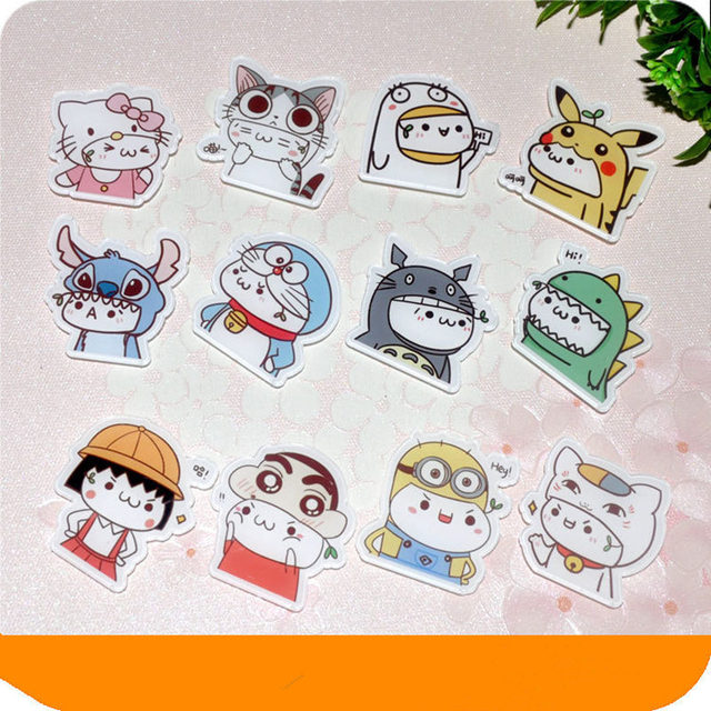 564452faa Hot Sale 1PCS Spider man stitch Totoro Sailor Moon Cat Pikachu Dogs Cartoon  Badges Acrylic Pins Brooch Backpack Bags Decoration