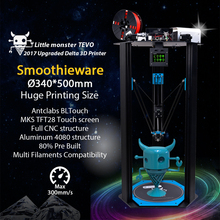 2017 TEVO Petit Monstre TEVO Delta 3D Imprimante Delta Grande Zone D'impression OpenBuilds D'extrusion/Smoothieware/MKS TFT28/Bltouch