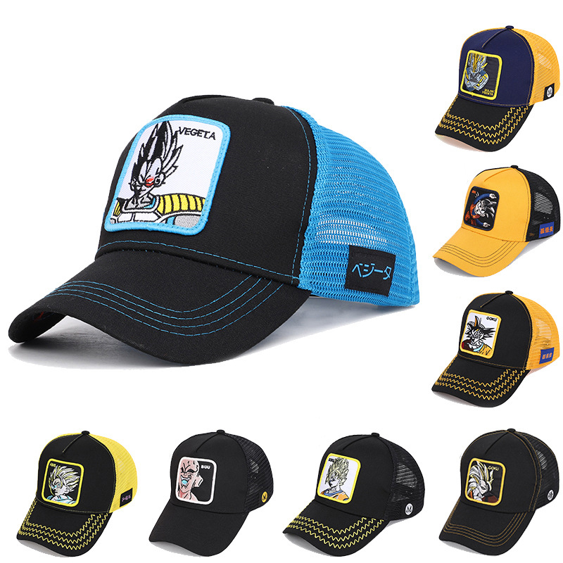New Brand Dragon Ball Z Goku VEGETA MAJIN Snapback   Baseball     Cap   Men Women Hiphop Hat Trucker Dad Hat High Quality Dropshipping