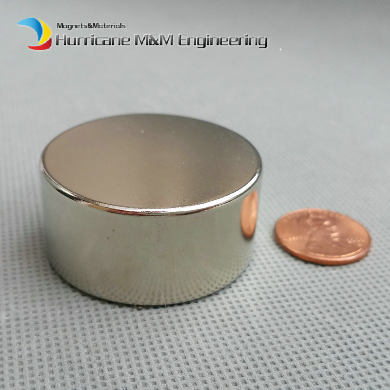 1 pack Grade N38 NdFeB Disc Magnet Diameter 40x20 mm Water Filter Tool Holder Strong Neodymium Permanent Magnets NiCuNi Plated