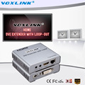 VOXLINK HD 1080P 3D DVI Extender with Loop-out Up to 50m Over Single Cat5E/6 Network cable with IR HDMI1.4 For HDTV