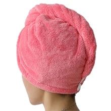 Новинка,, женское банное полотенце из микрофибры, супер-абсорбент, быстросохнущее банное полотенце, кепка, полотенце для волос, салонное, 25*65 см, T001
