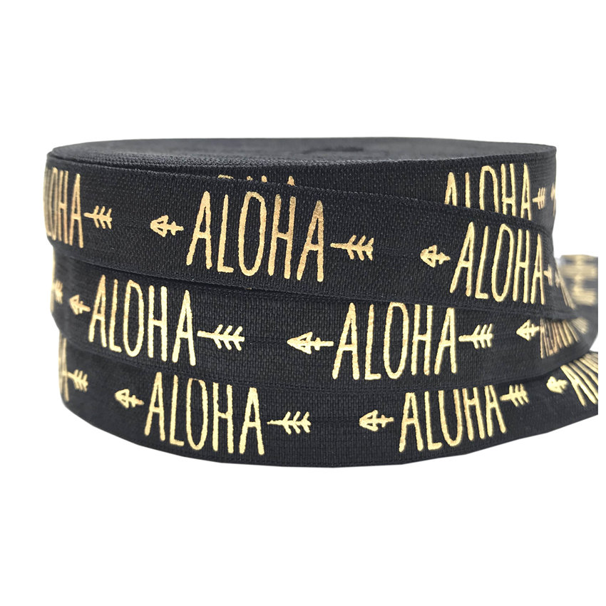 Aloha Arrow Print Foldover Elastic FOE Elastic for Hair Accessories 10yards DIY Headwear Fold Over Elastic Ribbon Free shipping
