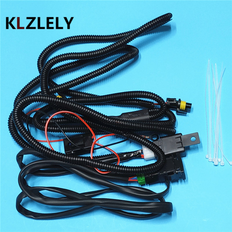 Beler Wiring Harness Wire Sockets + Switch For H11 Fog Lamp For ...
