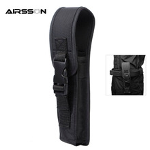 Tactical Flashlight Holster Pouch Combat Portable Lightweight Electronic Torch Carrier Outdoor Hunting Flashlight Cover Big Size
