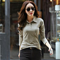 New 2016 Polo Women Long Sleeve Casual Polo Shirt For Women Plus Size Cotton Polos Mujer Autumn Winter Tops Tees Ladies Polo
