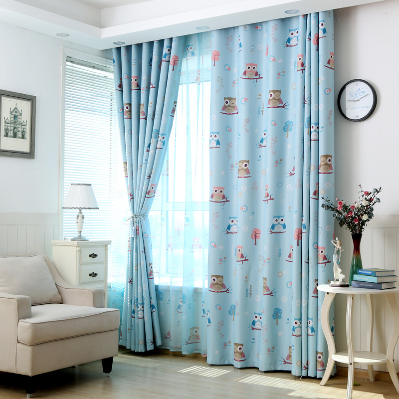New All Dressed Calico Owl Curtains For Living Dining Room Bedroom(China  (Mainland)