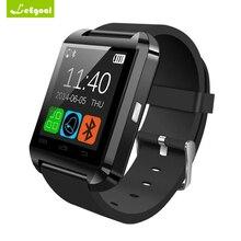 Хорошее Leegoal U8 Bluetooth Smart часы Женщина человек наручные часы спортивные SmartWatch открытый для iphone Samsung смартфонов на базе Android часы