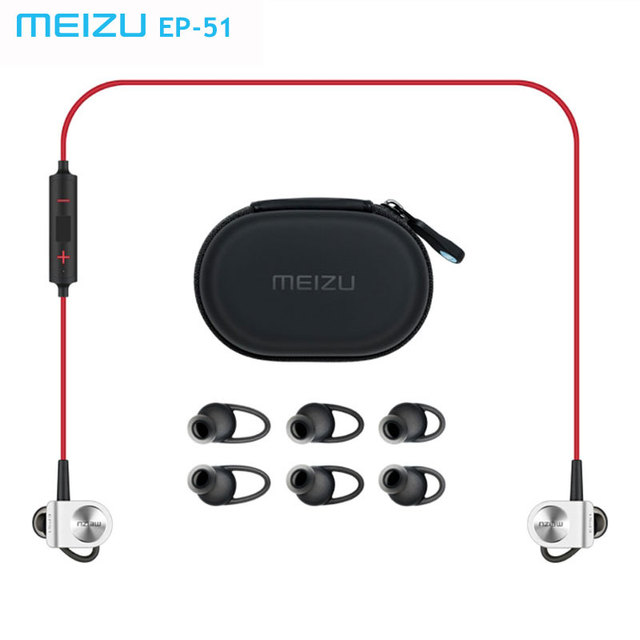 Original meizu ep51 apt-x deportes wireless bluetooth headset auricular estéreo impermeable earhud con micrófono aleación de aluminio para