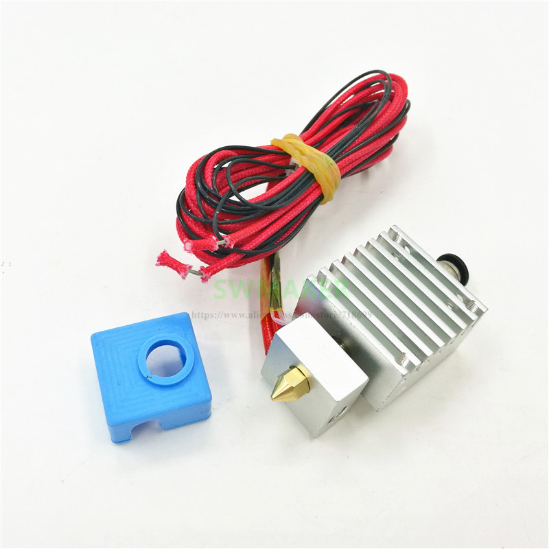 TEVO Tarantula 3D Printer Single Extrusion Hotend MK8 Silicone Sock Upgrade Kit 12V 24V