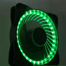 NEW 12cm computer case fan silent led red/blue Color Nine Sickle Leaves Fan PC Case System Cooling with package 4pin&3pin