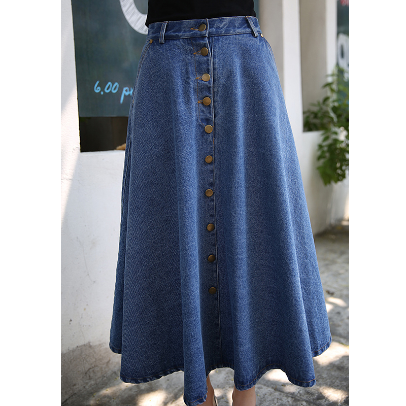 Compra 2016 long denim skirt y disfruta del envío gratuito en AliExpress.com a0bc53878ef4