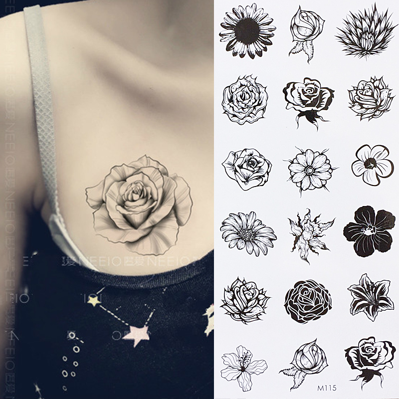 Us 071 10 Offsunflower Temporary Body Tattoo Daisy Flower Tattoos Can Be Used For Shoulderthigh Wrist Tattoo In Temporary Tattoos From Beauty