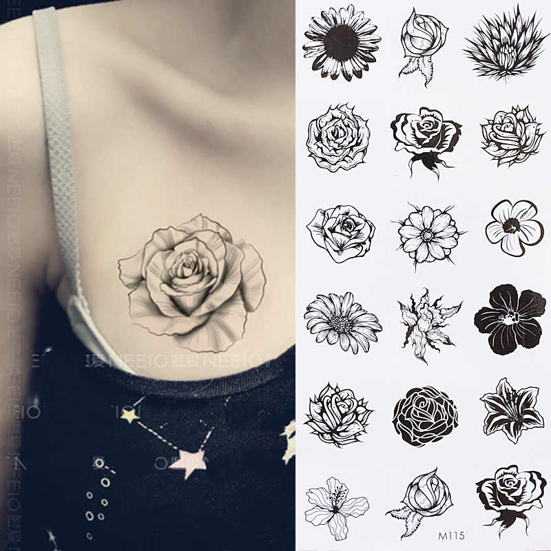 Sunflower Temporary Body Tattoo Daisy Flower Tattoos can be used for Shoulder,thigh, wrist Tattoo
