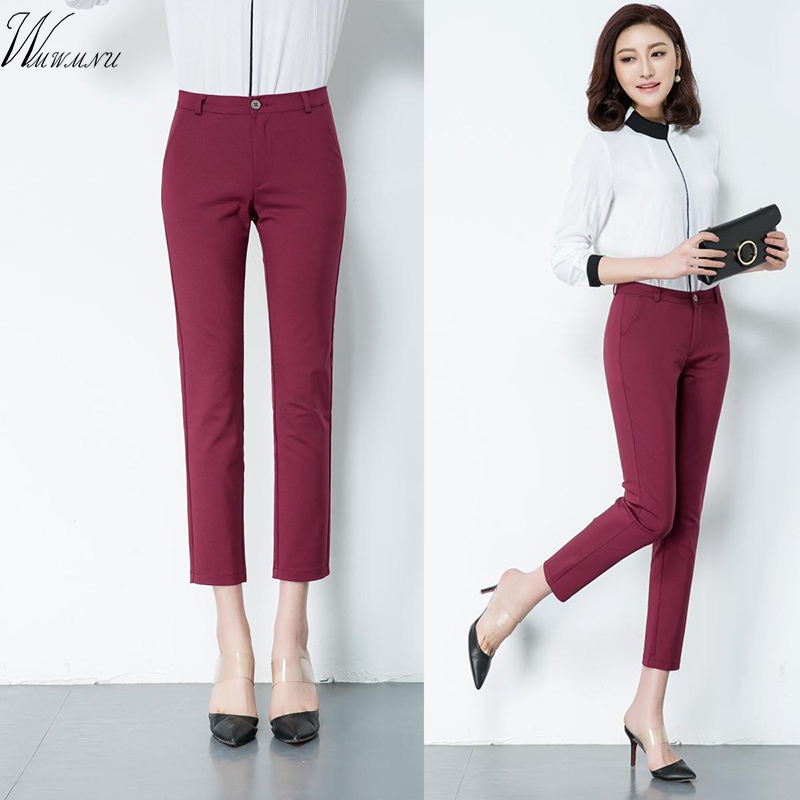 Spring Women's Casual Candy Pencil Pants 2018 New Fashion Silm Elastic Cotton Trousers Women Solid 20 Color Plus Size 4xl Pants