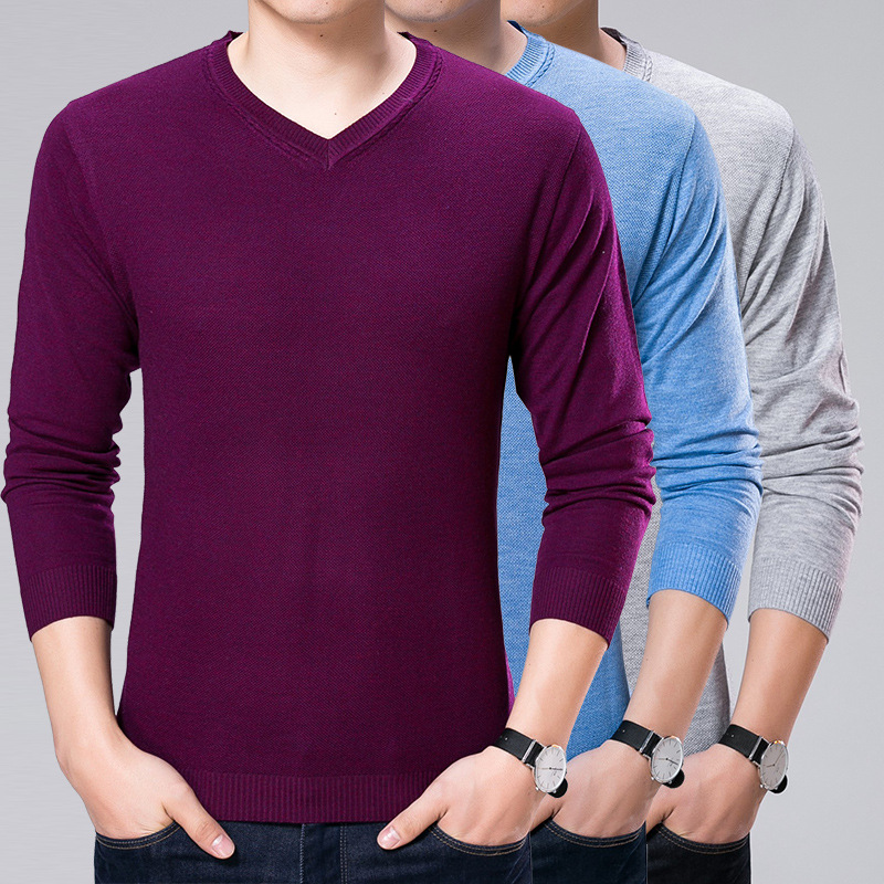 Sweater Mens Spring Knitted Korean Casual Sweater Business Knitwear Relaxation Pullover Men Sweaters European British Style